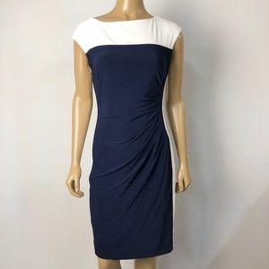 Lauren Ralph Lauren colorblock stretchy dress